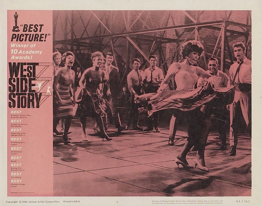 West Side Story lobby card 5 Oscar