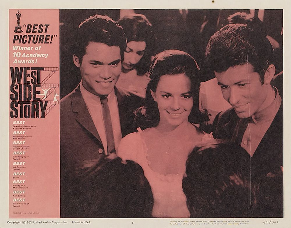 West Side Story lobby card 7 Oscar