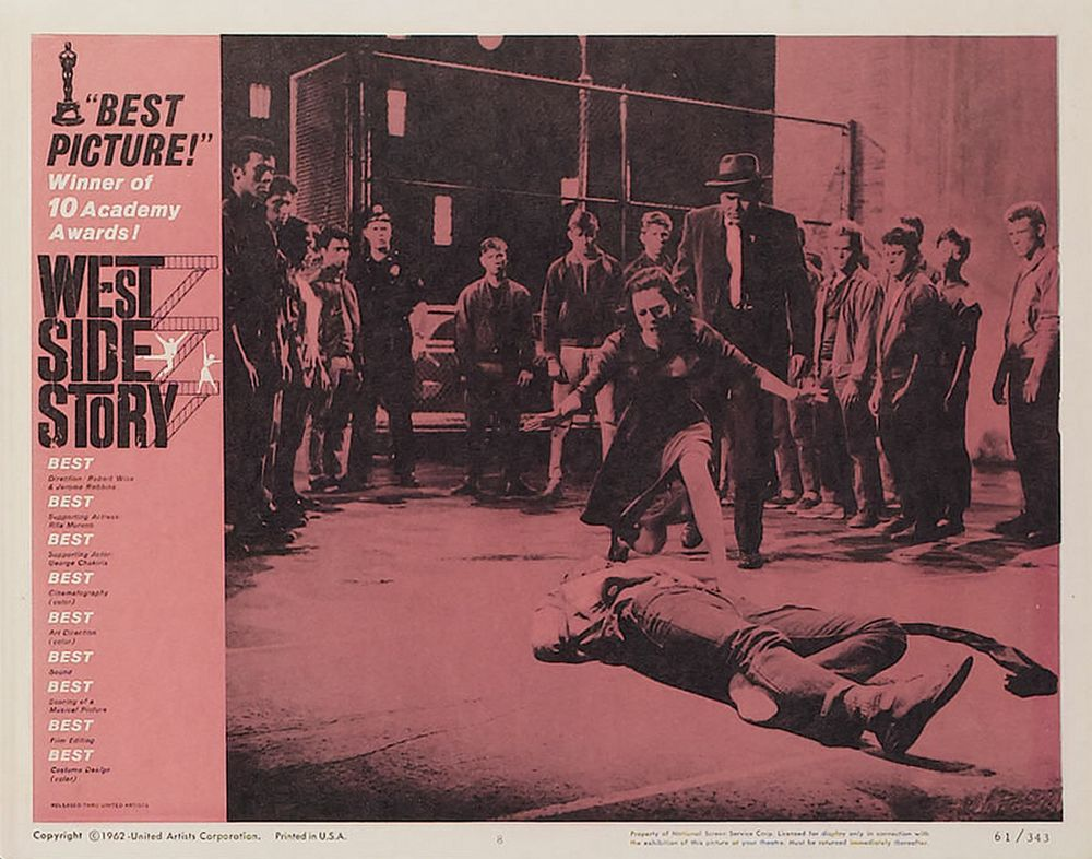 West Side Story lobby card 8 Oscar
