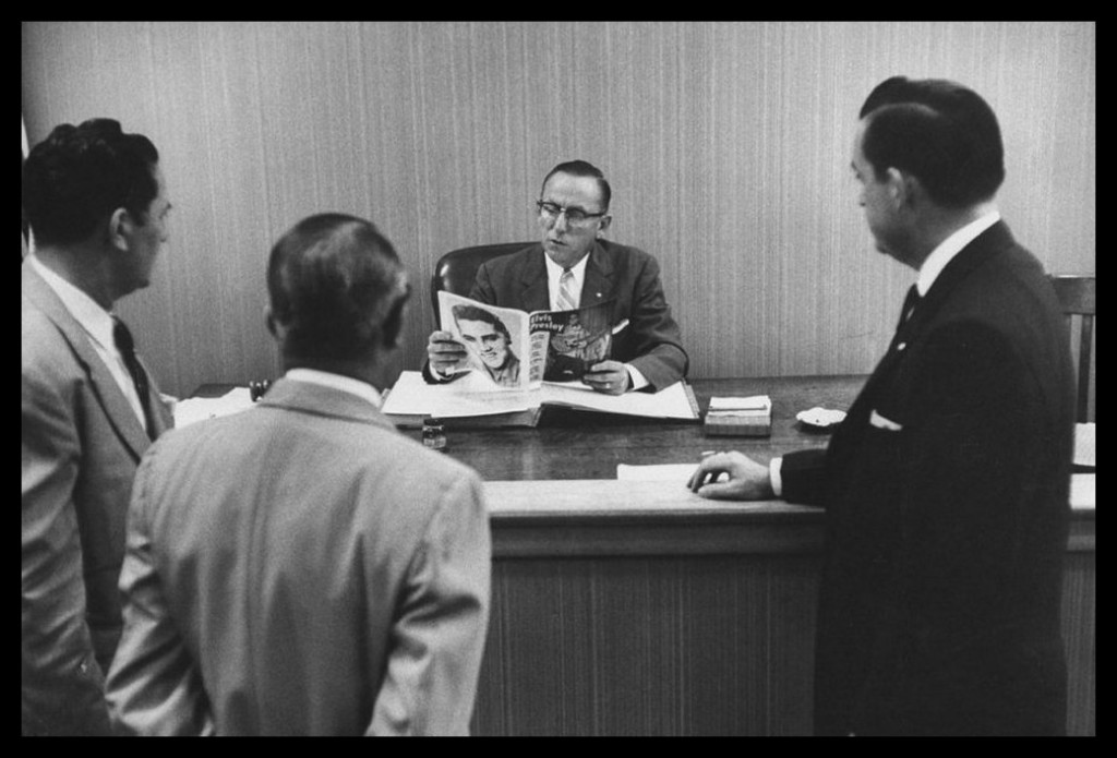 Aug 1956 Members of the Jacksonville, FL Optimist Club meeting with Judge Gooding