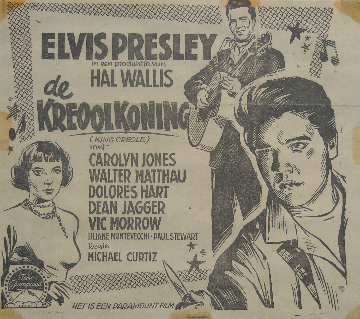 King Creole - Holland newspaper ad (Gerrit De Jong)