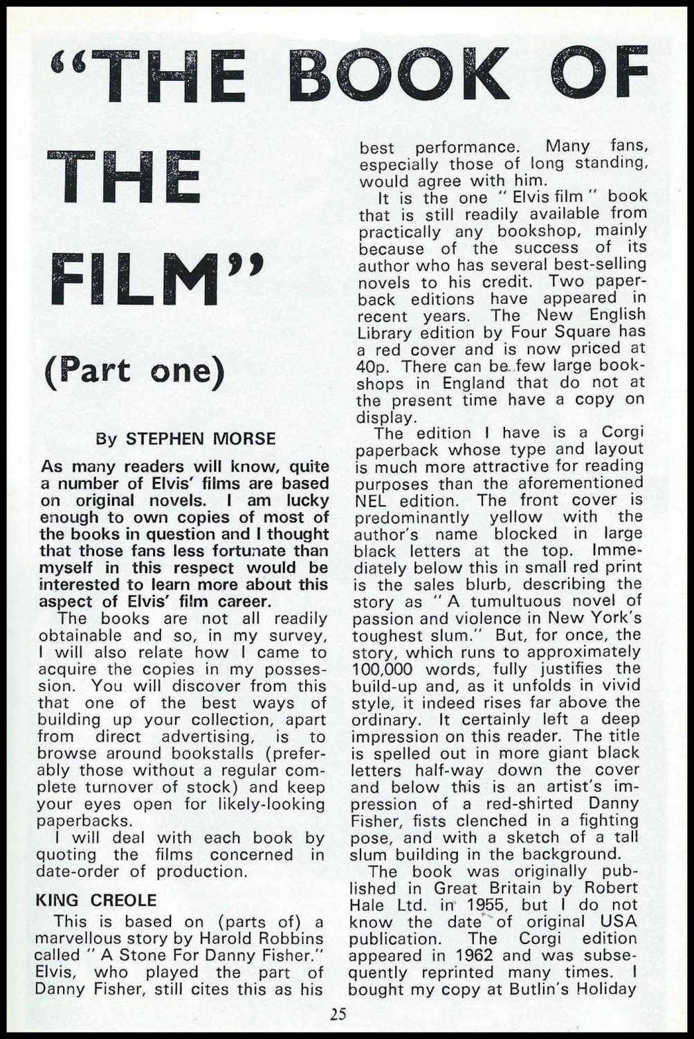 The Book Of The Film Part 1 (January 1972) a