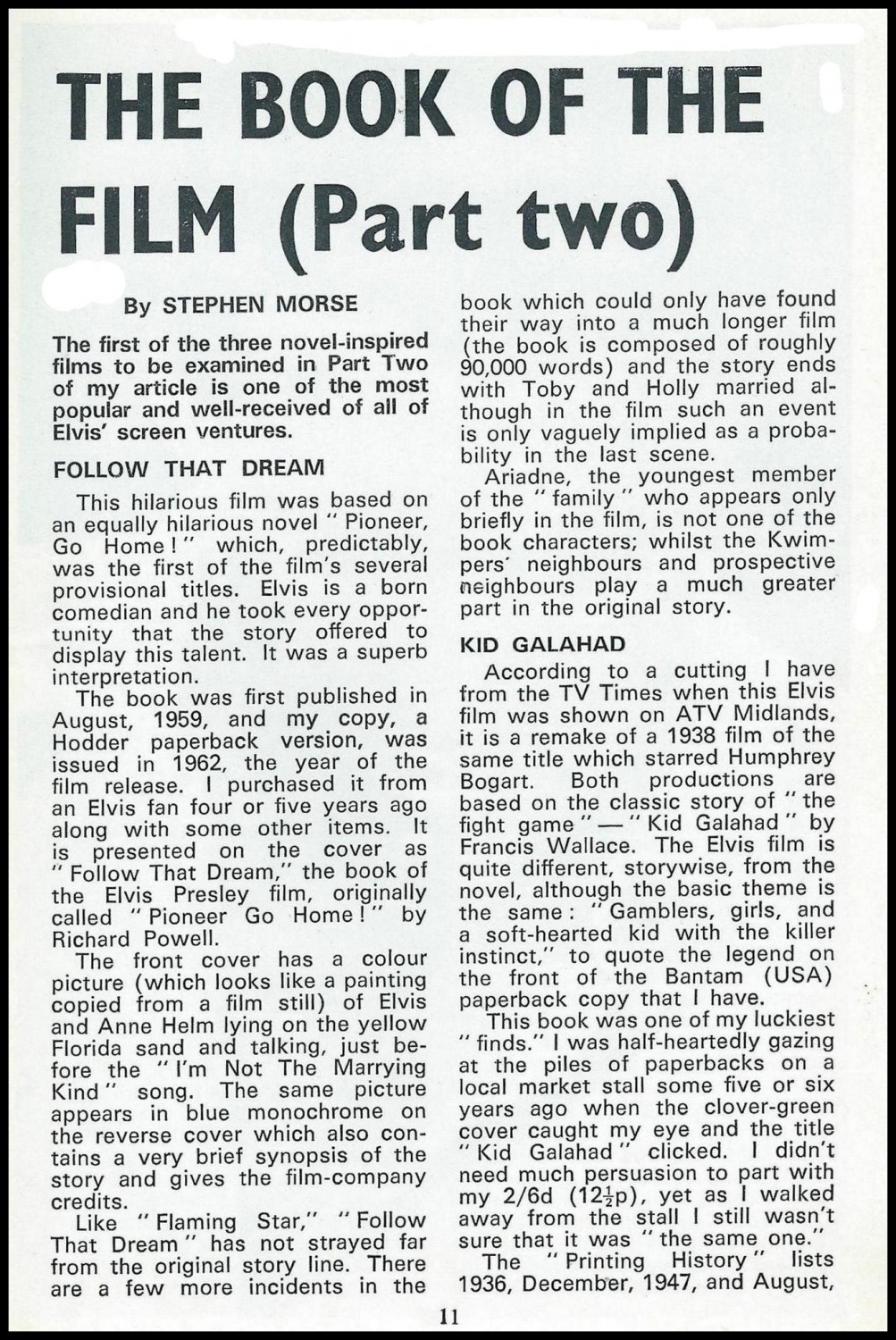 The Book Of The Film Part 2 (February 1972) a