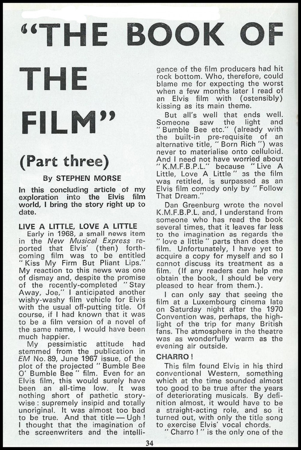 The Book Of The Film Part 3 (March 1972) a
