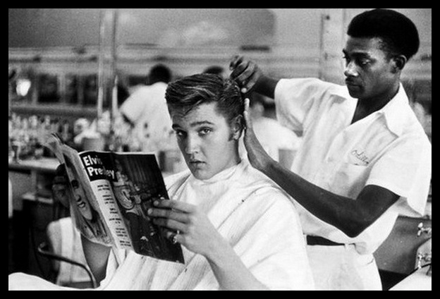 01 Lloyd Shearer july 1956 Jim's Barber Shop in Memphis