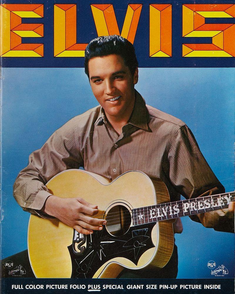 1963-08 Elvis' Golden Records, Volume 3 picture folio front (8x10)