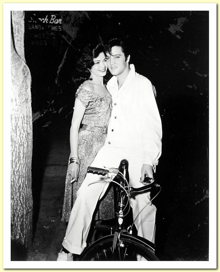 60 Elvis with Valerie Allen, on the set of Hot Spell in February 1957
