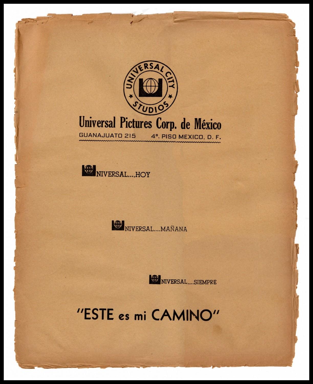 Este Es Mi Camino - Mexico lobby card envelope frame