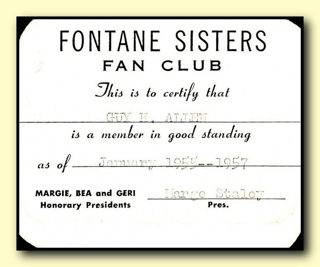 Fontane Sisters