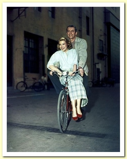 Grace Kelly and Jimmy Stewart (Rear Window, 1954) 1