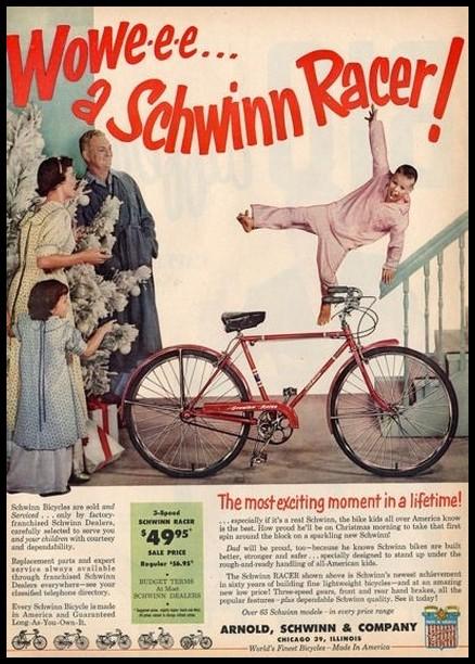 Schwinn Racer ad