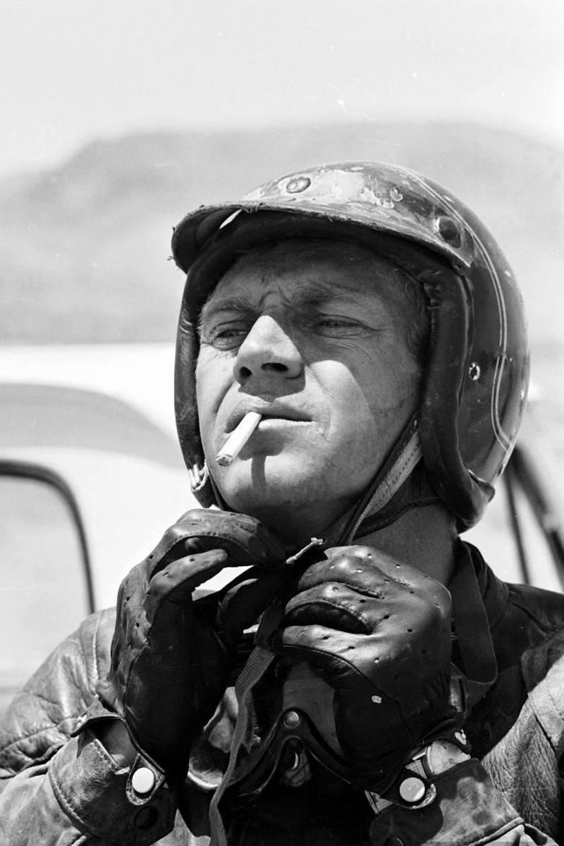 Steve McQueen - John Dominis (1963) motorcycle racing 06