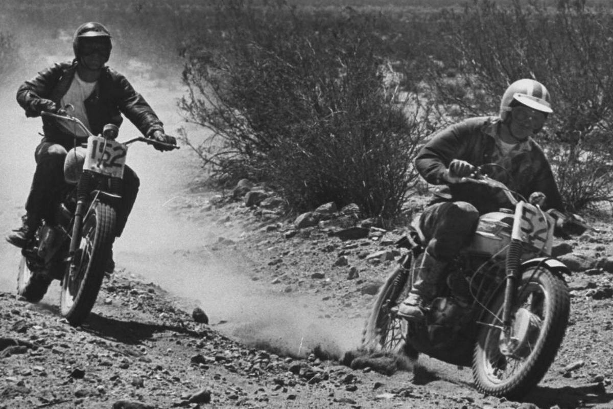 Steve McQueen - John Dominis (1963) motorcycle racing 07