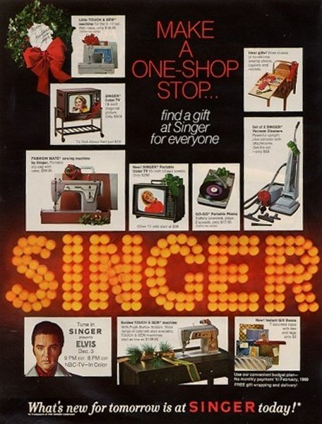 Full-Page Singer advertisement