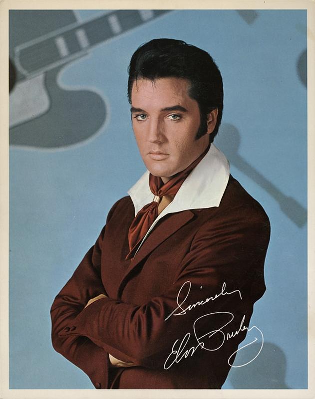 Singer Presents Elvis Singing Flaming Star BONUS PHOTO