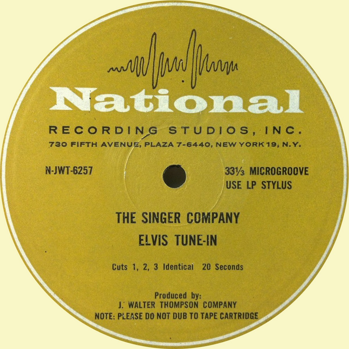 The Singer Company Elvis Tune-In