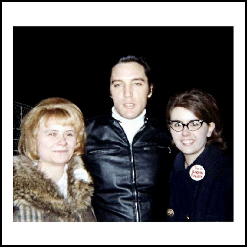 February 16, 1968 at Graceland (Sandy left, Judy right)