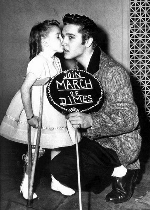 1957-01-06 With Joanne Wilson (New York City's March of Dimes Poster Girl of 1956) 04