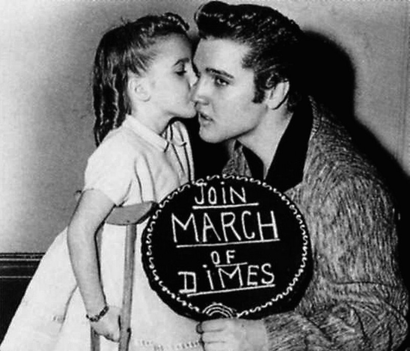 1957-01-06 With Joanne Wilson (New York City's March of Dimes Poster Girl of 1956) 05