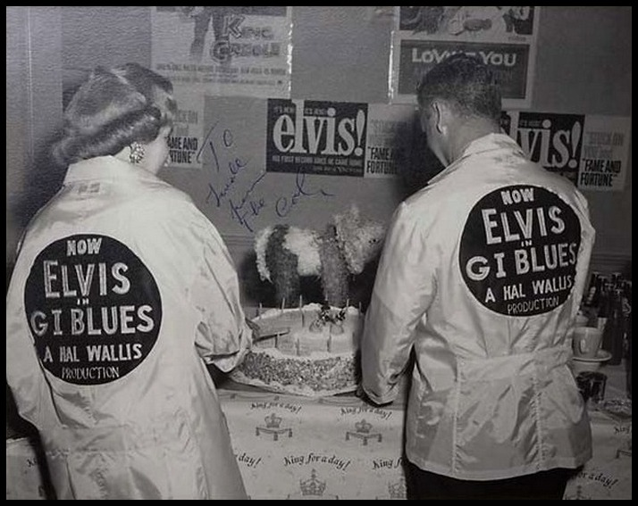1960 GI Blues 1 (Trudy and Tom Diskin at GI Blues Birthday Party - signed by the Colonel to Trudy)