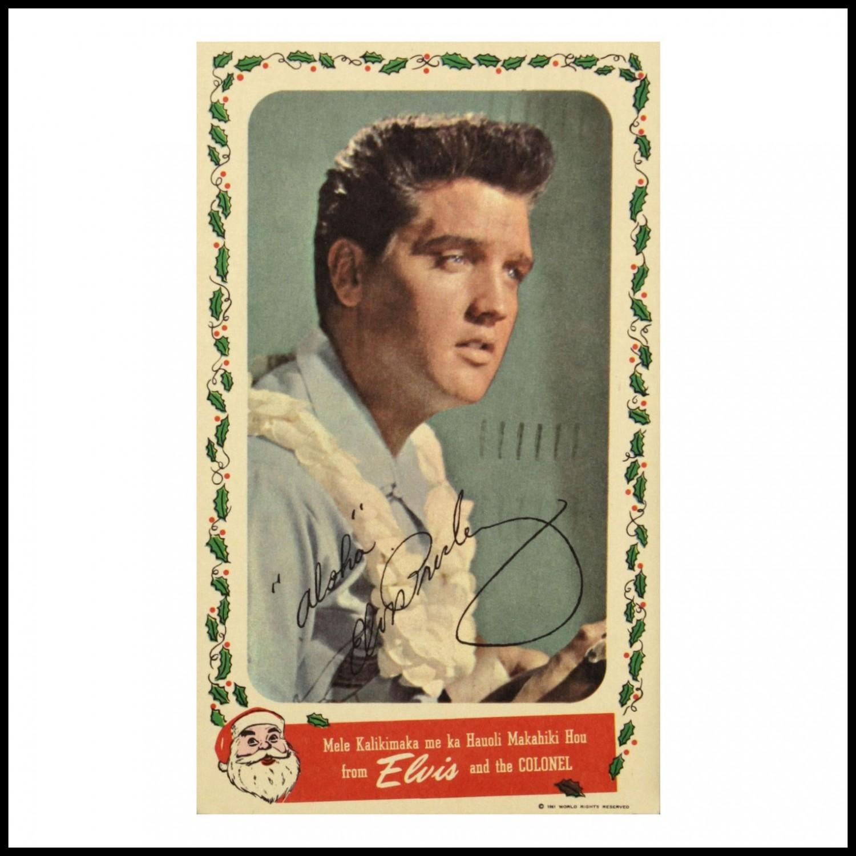 Blue Hawaii Christmas card (1961)