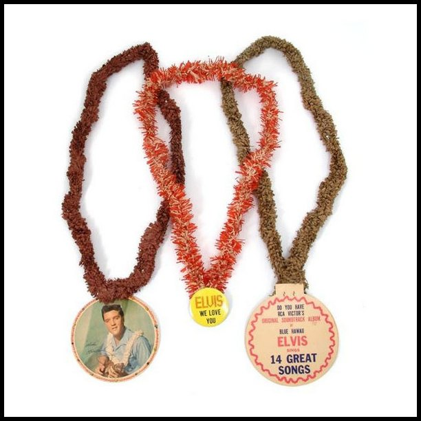 Blue Hawaii - USA promotional leis (1961) 03