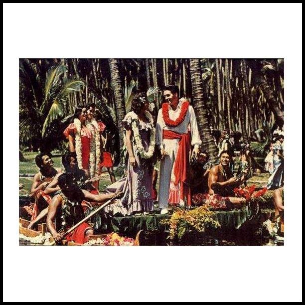 Blue Hawaii postcard 1961