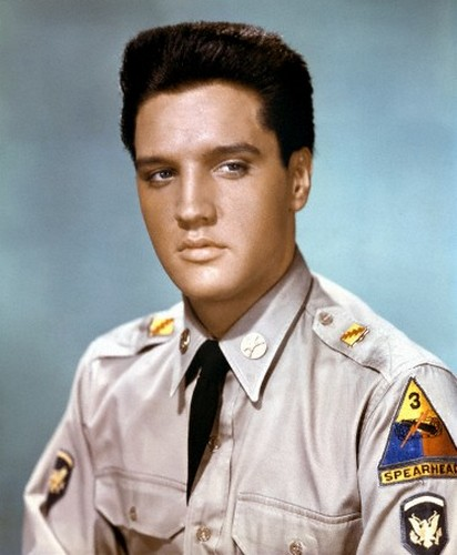 Elvis Presley in costume for G.I. Blues