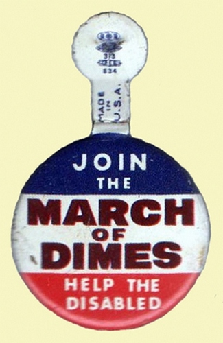 March of Dimes vintage pin