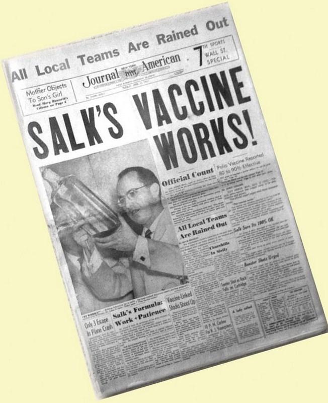 Salk newspaper report