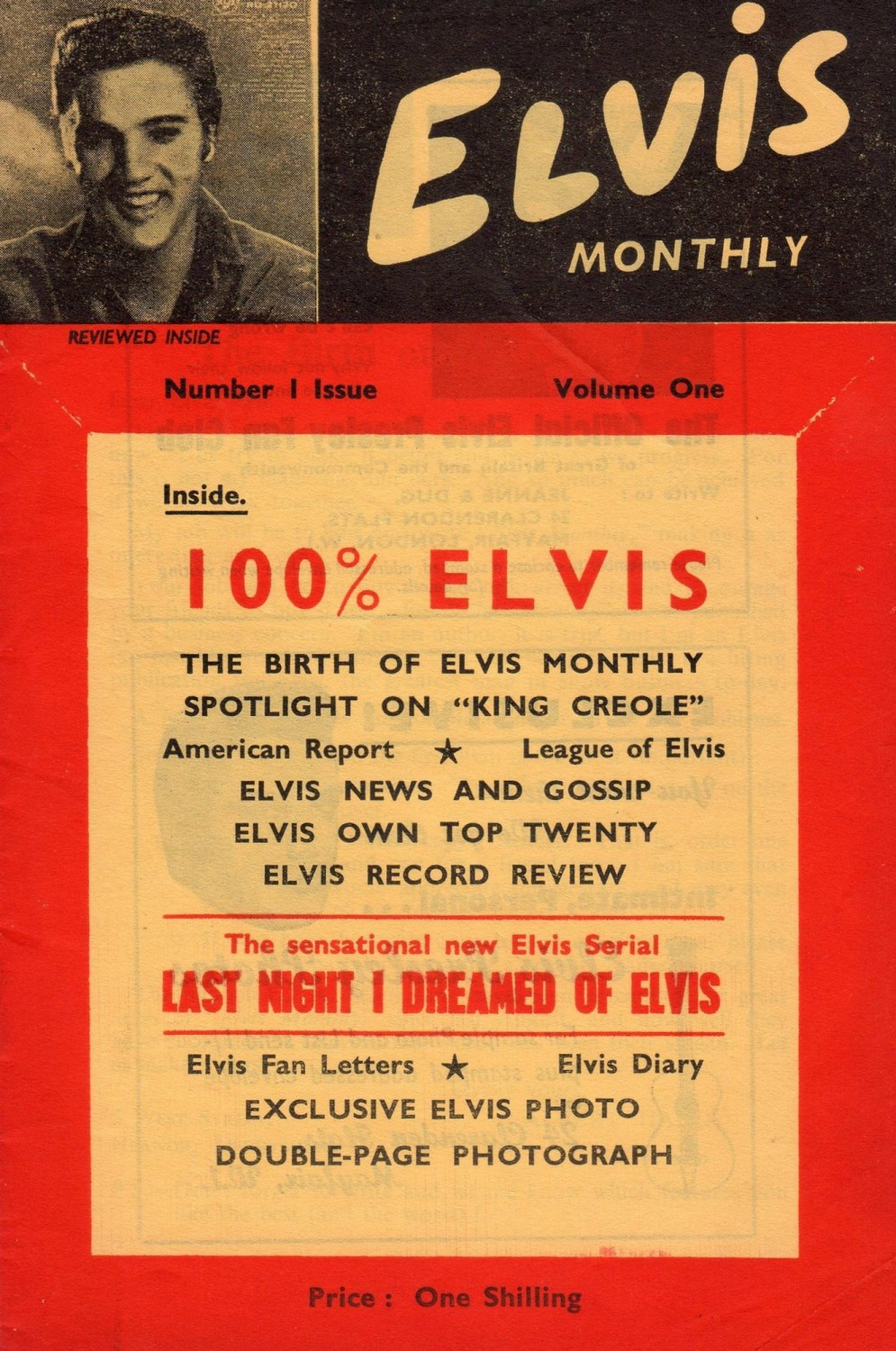 The first issue of Elvis Monthly, February 1960 (Harry Carrigan)