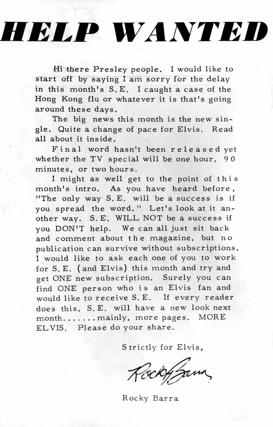 Strictly Elvis No. 6 October 1968 02