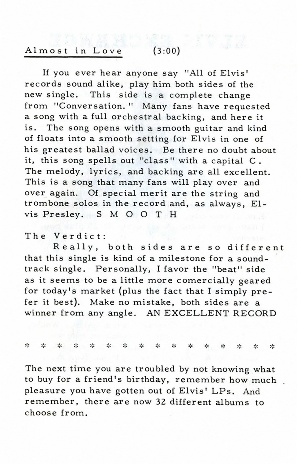 Strictly Elvis No. 6 October 1968 25