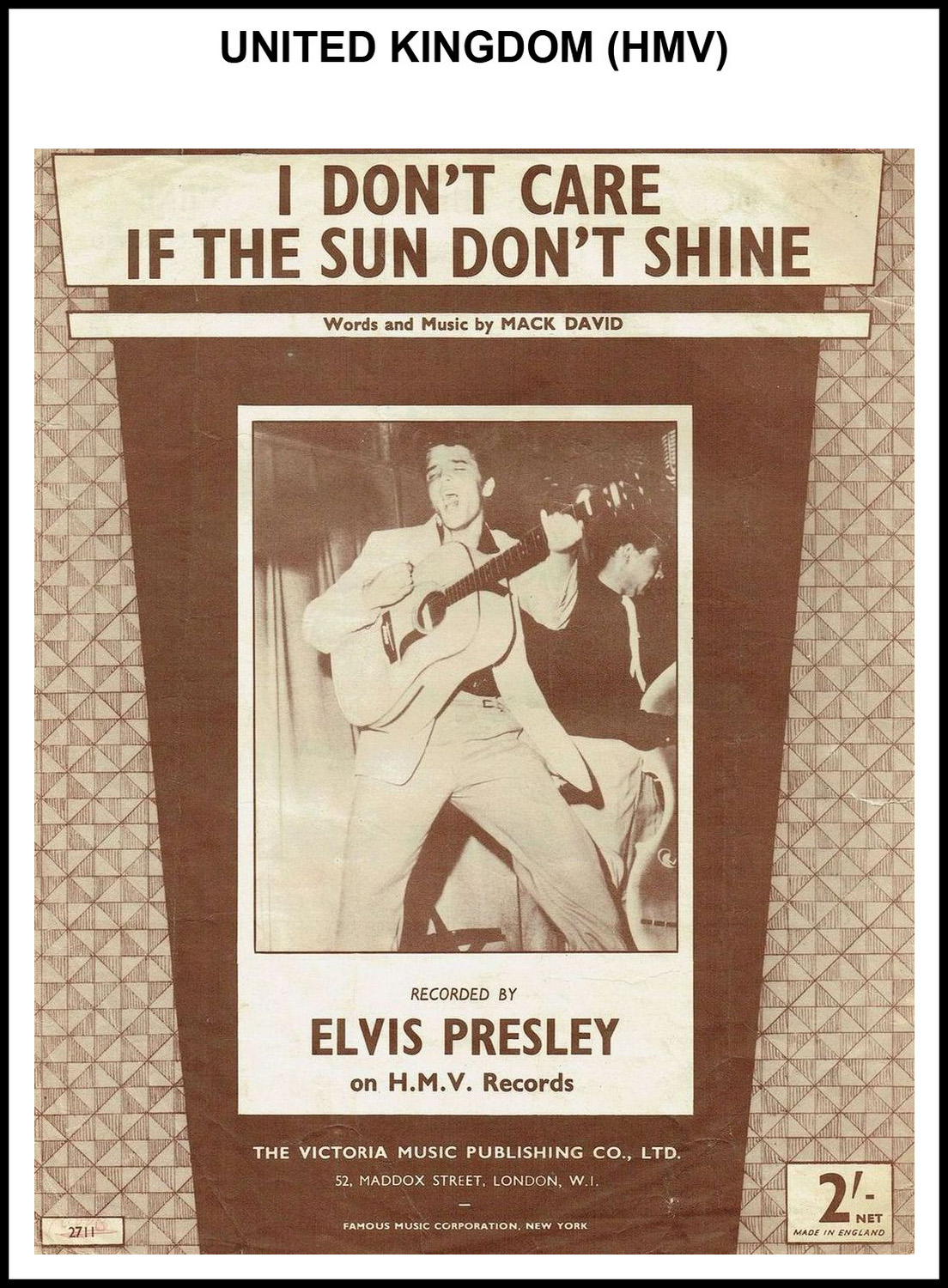 1954 - I Don't Care If The Sun Don't Shine (UK, HMV) 1 (CHRIS GILES COLLECTION)