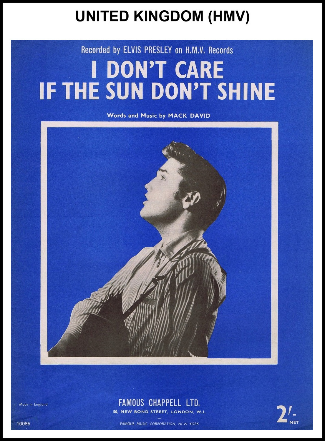 1954 - I Don't Care If The Sun Don't Shine (UK, HMV) 2 (CHRIS GILES COLLECTION)