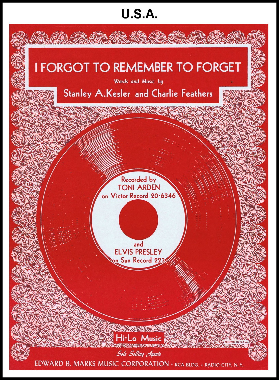 1955 - I Forgot To Remember To Forget (USA) (CHRIS GILES COLLECTION)