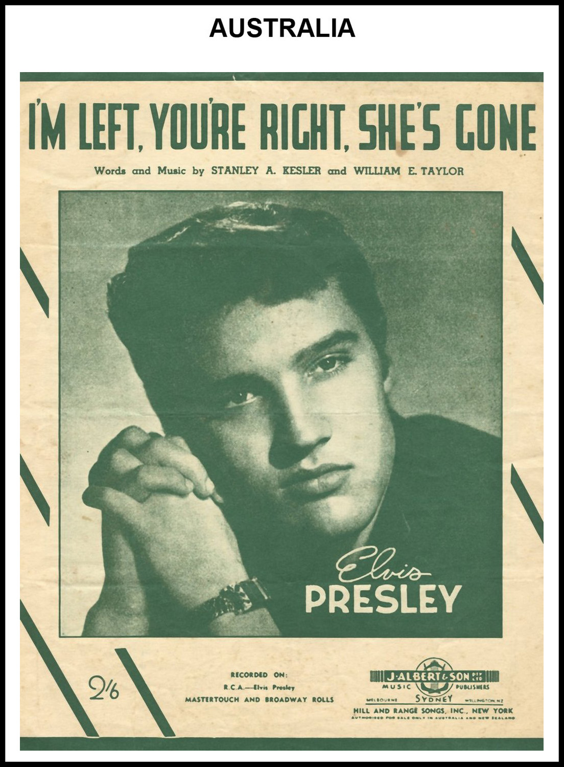 1955 - I'm Left, You're Right, She's Gone (Australia) (CHRIS GILES COLLECTION)
