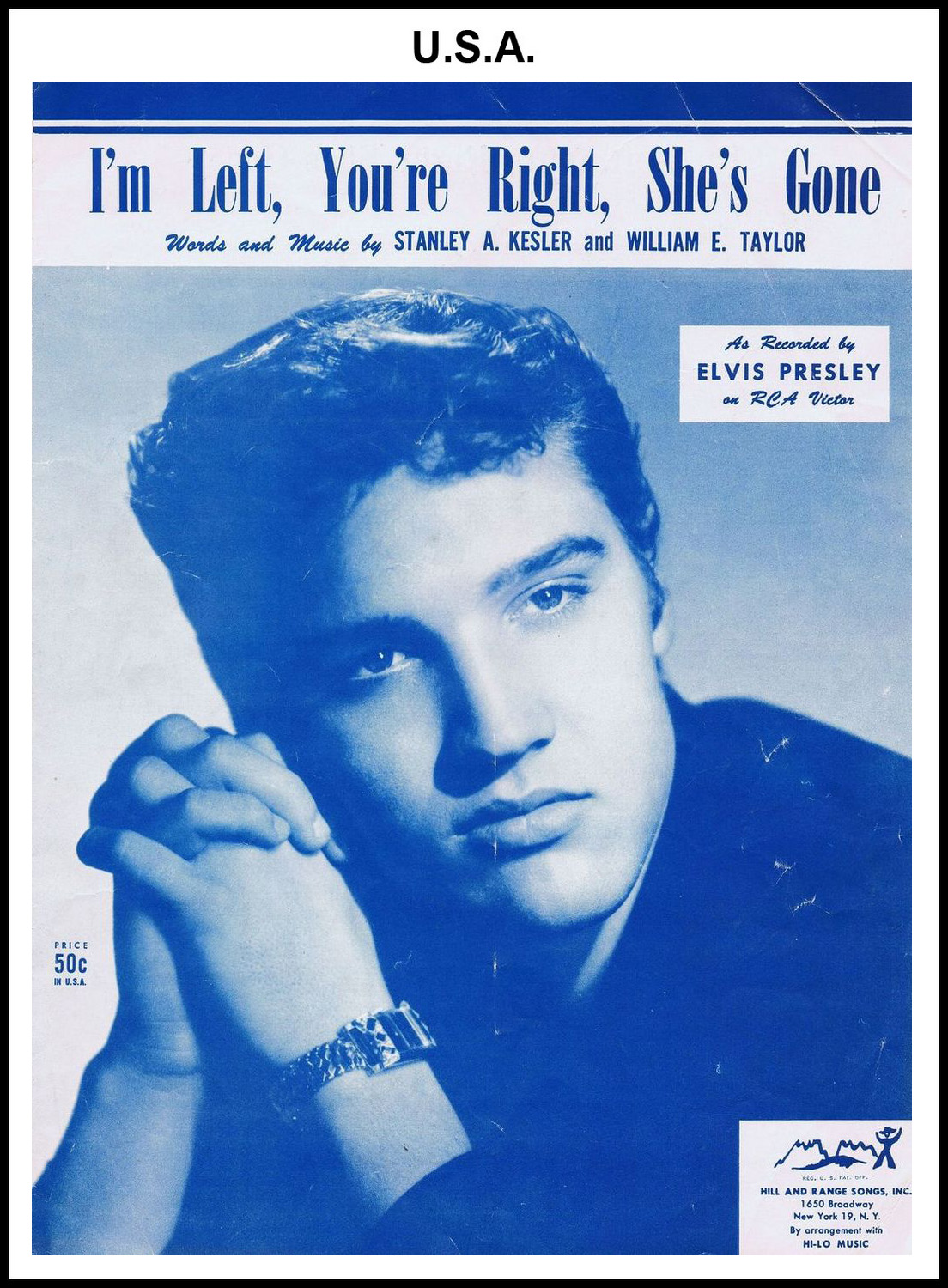 1955 - I'm Left, You're Right, She's Gone (USA 50c) (CHRIS GILES COLLECTION)