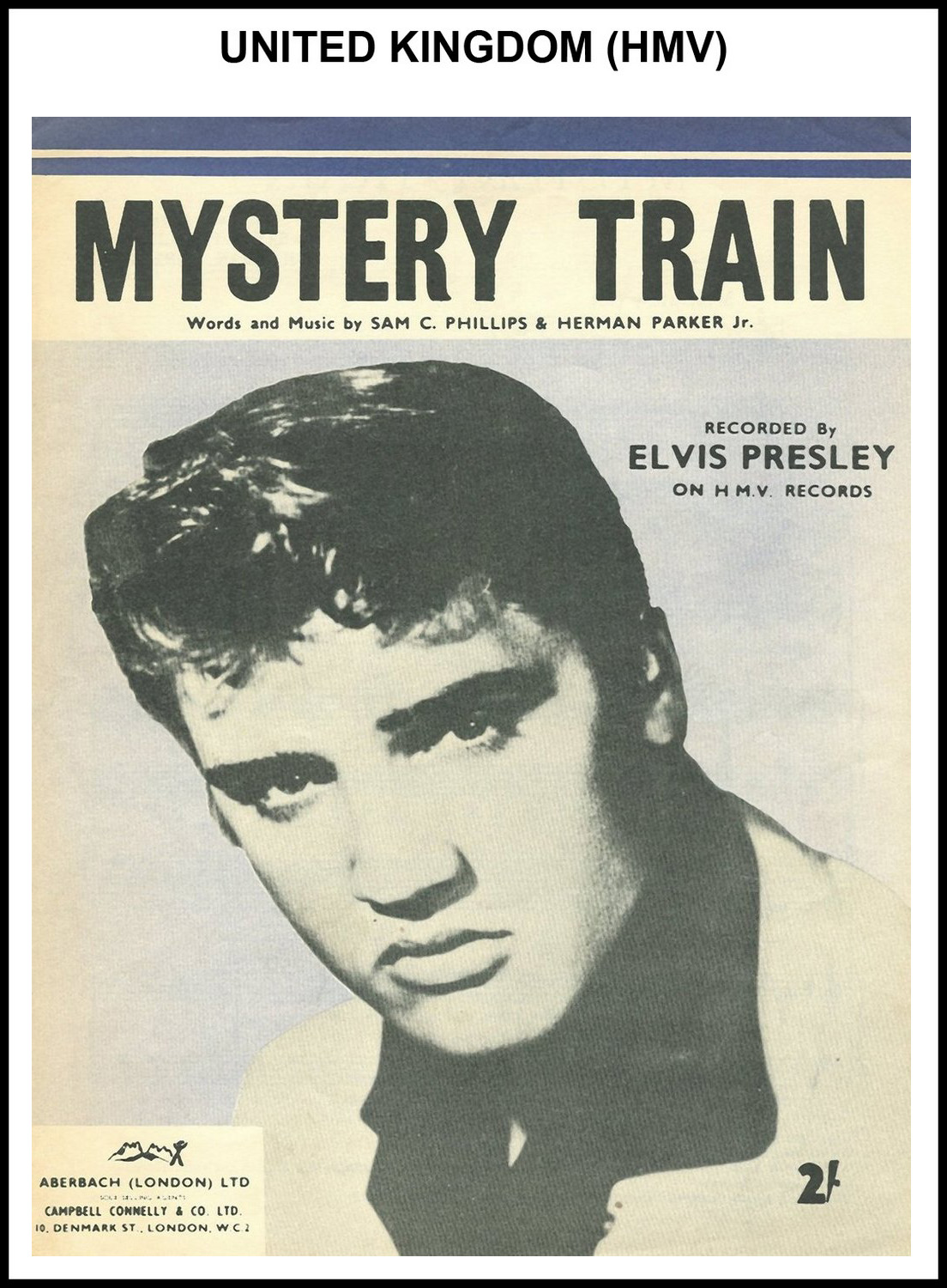 1955 - Mystery Train (UK, HMV) (CHRIS GILES COLLECTION)