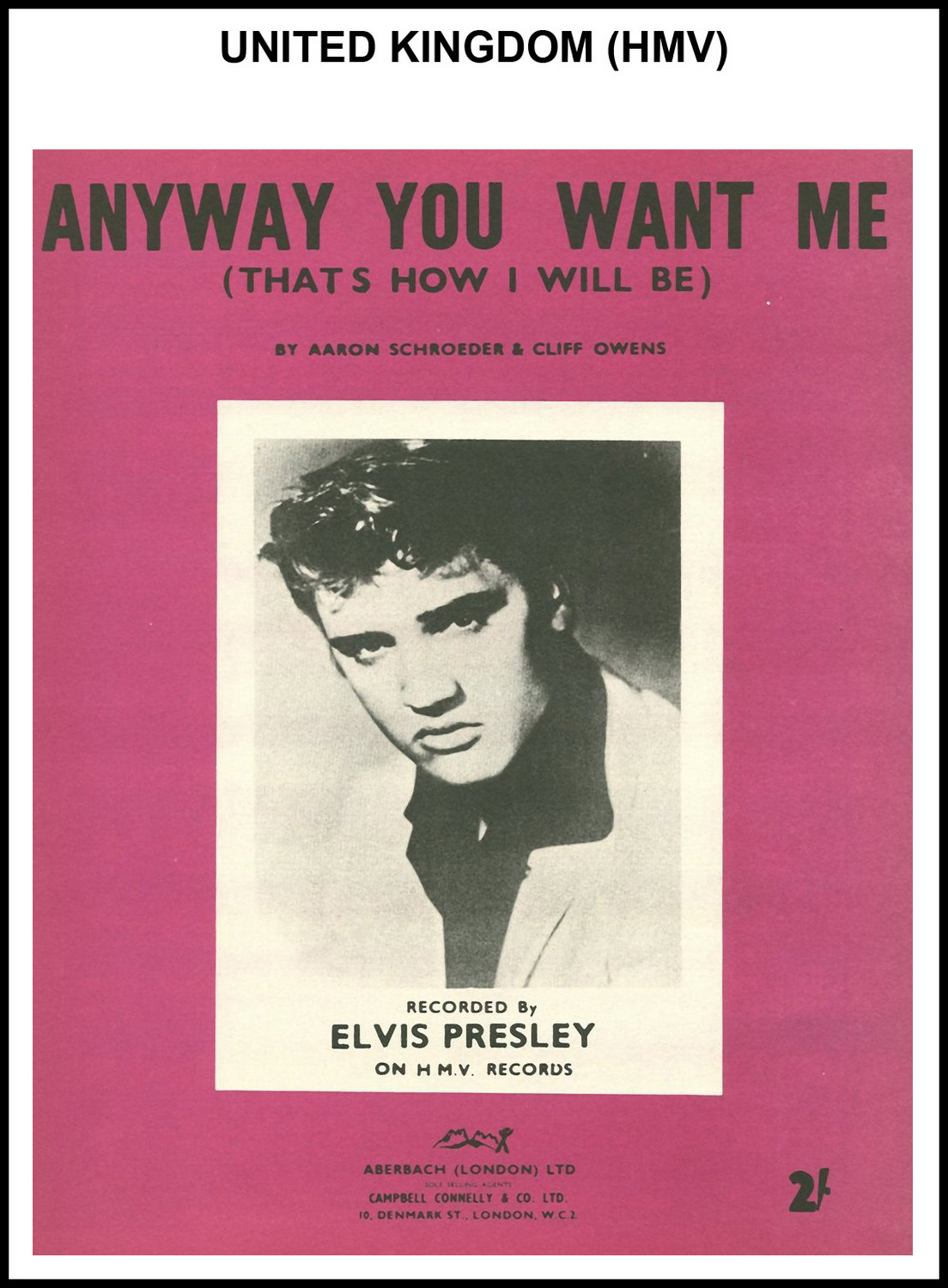 1956 - Anyway You Want Me (UK, HMV) (CHRIS GILES COLLECTION)