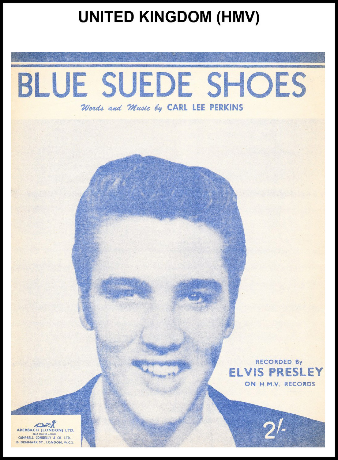 1956 - Blue Suede Shoes (UK, HMV) (CHRIS GILES COLLECTION)