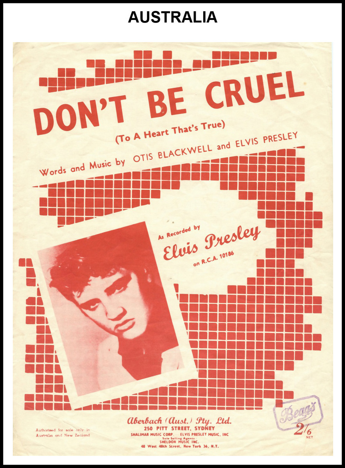 1956 - Don't Be Cruel (Australia) (CHRIS GILES COLLECTION)