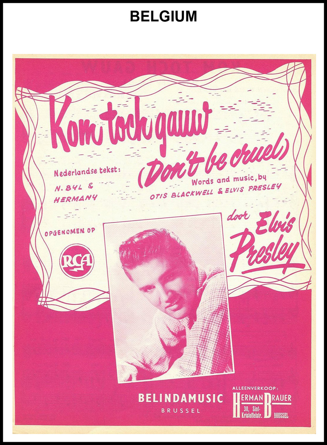 1956 - Don't Be Cruel (Belgium) (CHRIS GILES COLLECTION)