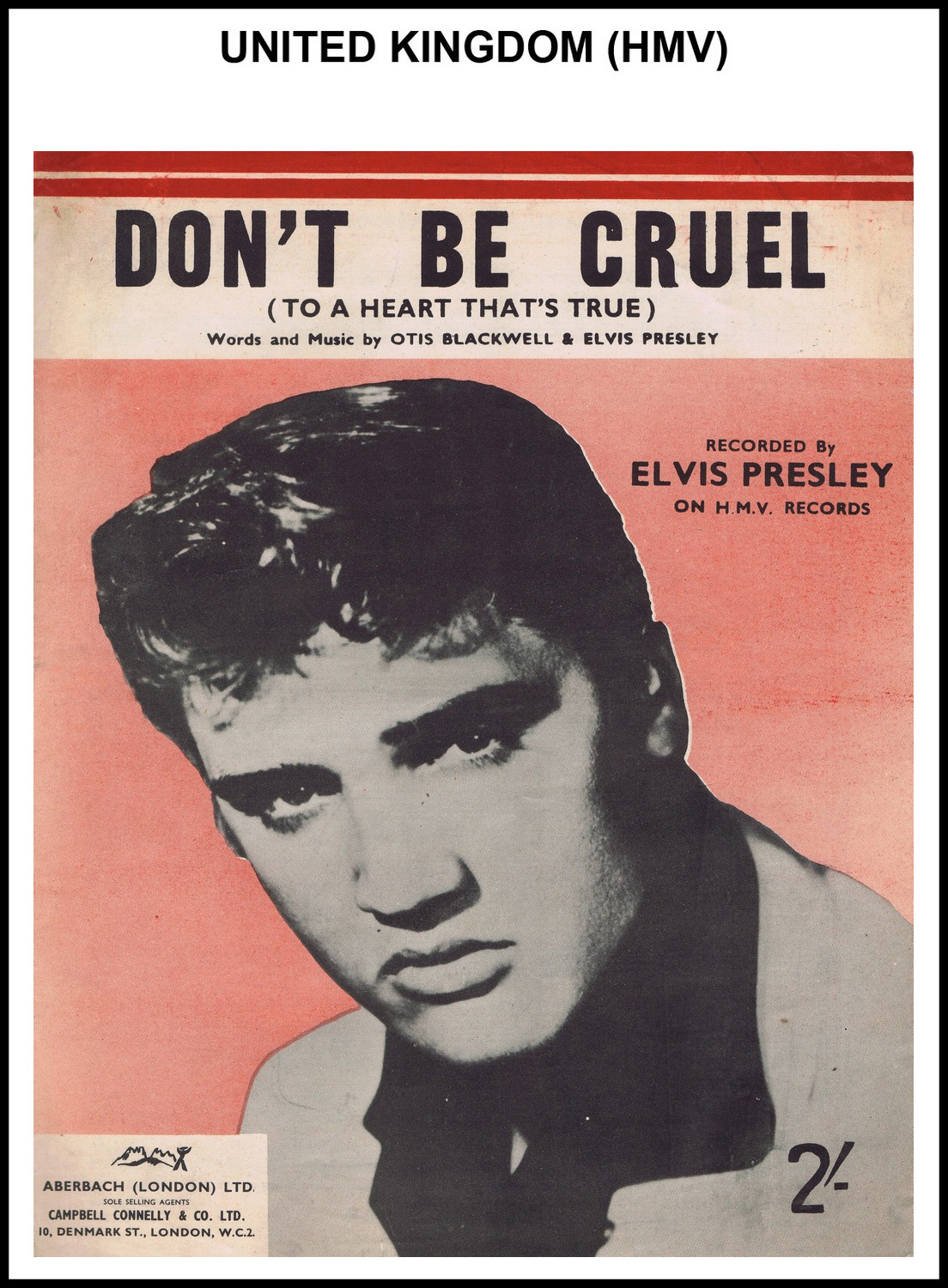 1956 - Don't Be Cruel (UK, HMV) (CHRIS GILES COLLECTION)