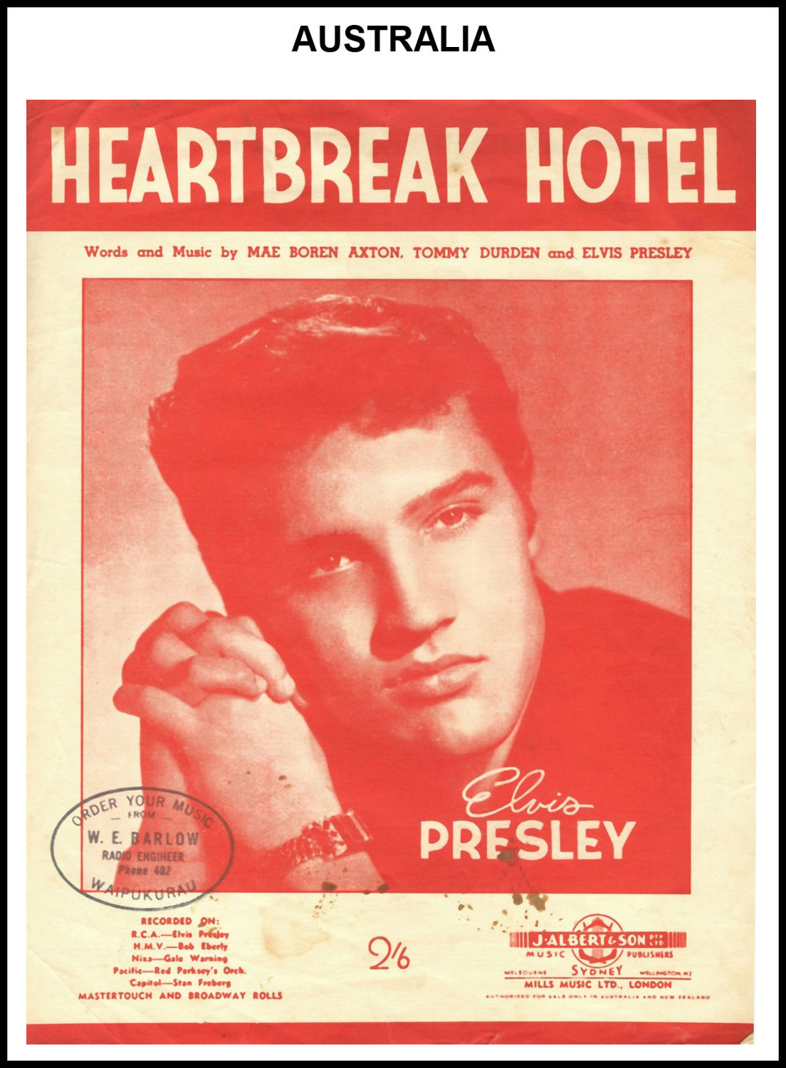 1956 - Heartbreak Hotel (Australia) (CHRIS GILES COLLECTION)