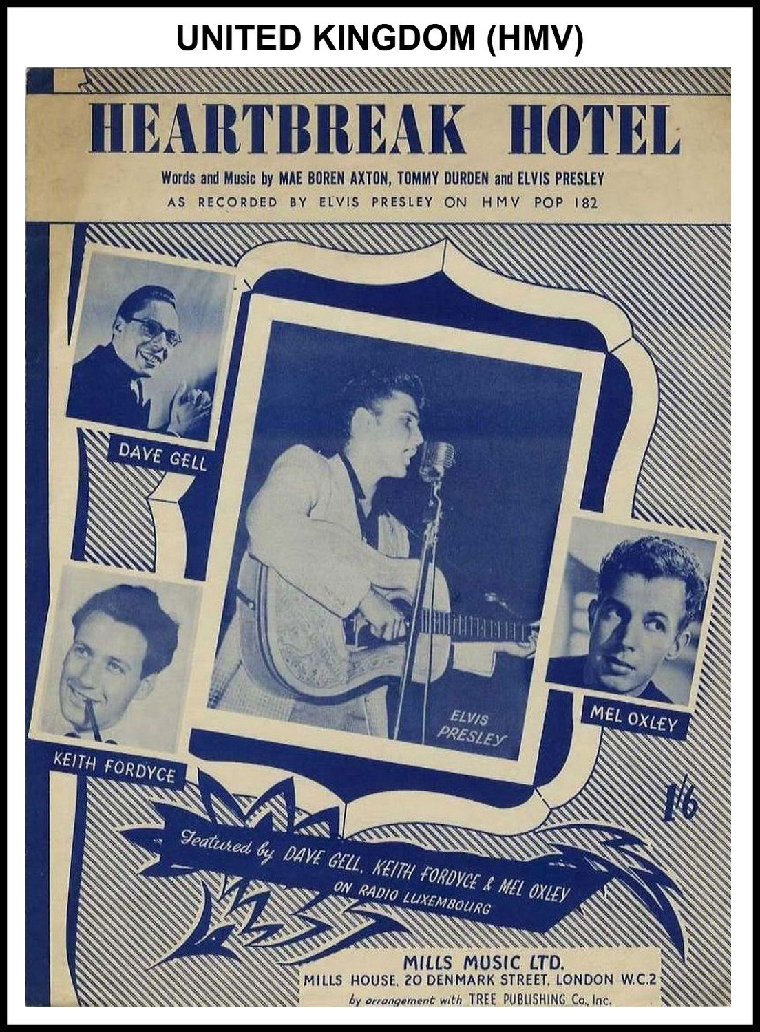 1956 - Heartbreak Hotel (UK, HMV) (CHRIS GILES COLLECTION)