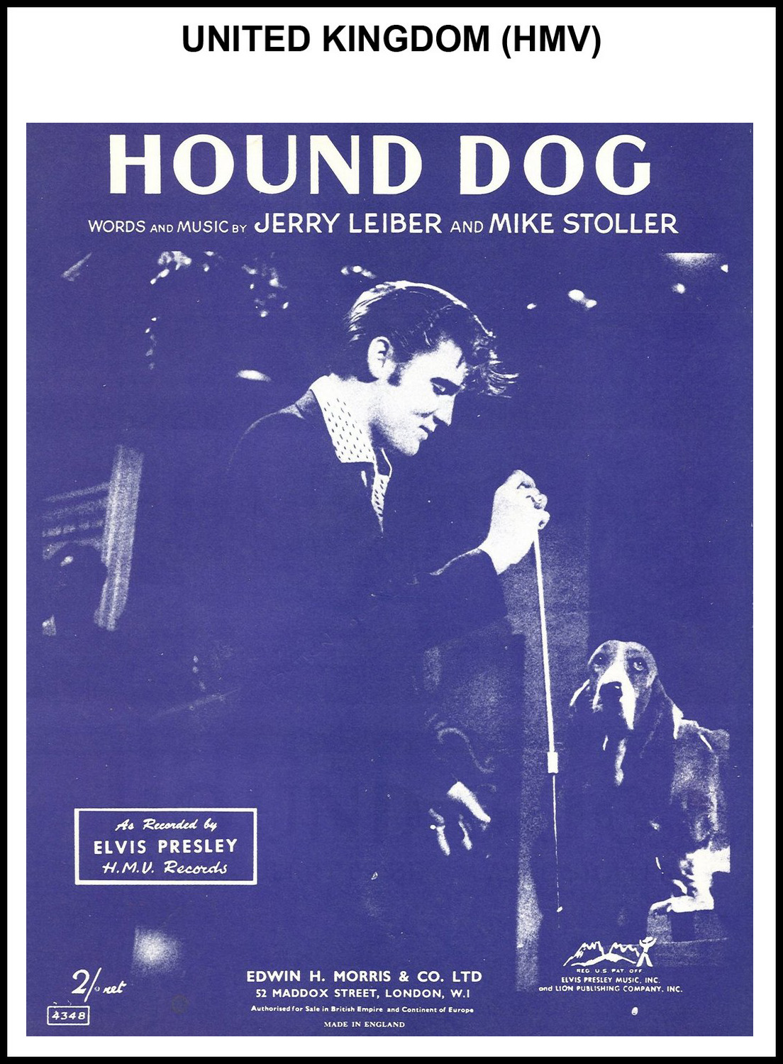 1956 - Hound Dog (UK, HMV) (CHRIS GILES COLLECTION)