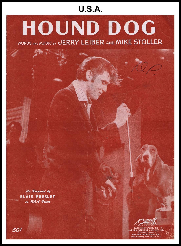 1956 - Hound Dog (brown, USA 50c) (CHRIS GILES COLLECTION)