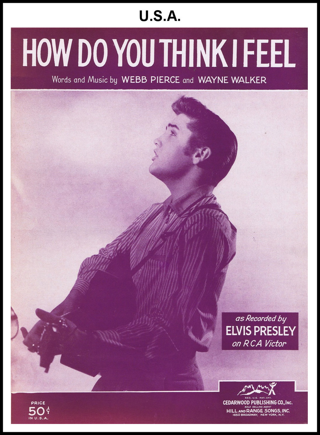 1956 - How Do You Think I Feel (USA 50c) (CHRIS GILES COLLECTION)