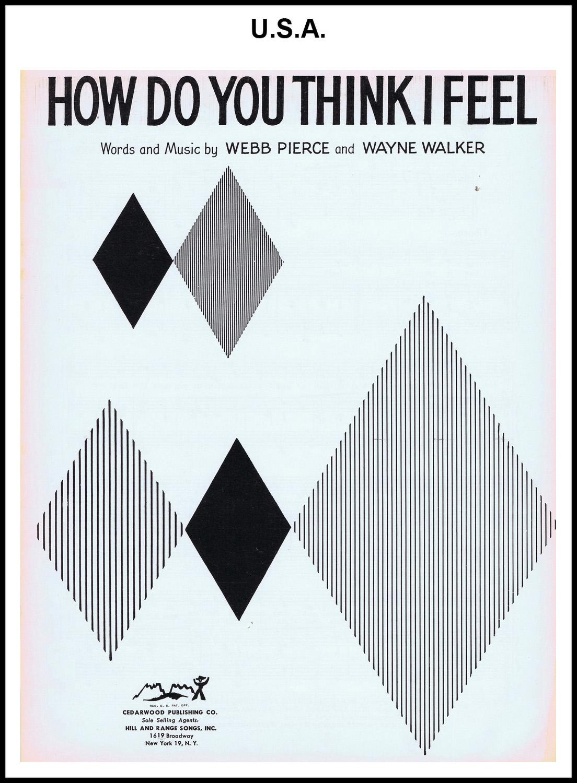 1956 - How Do You Think I Feel (USA) (CHRIS GILES COLLECTION)